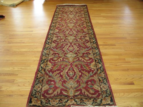 Red And Black Donegal Fl Indian Rug