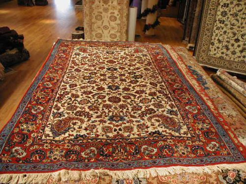 4 9 X 7 2 White And Red Najafabad Fl Persian Rug