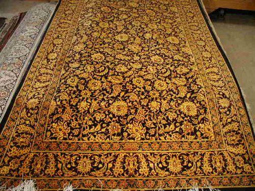 Black And Qum Afshan Persian Rug