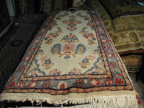 2 6 X 20 0 Ivory And Blue Kabutrahang Fl Persian Rug