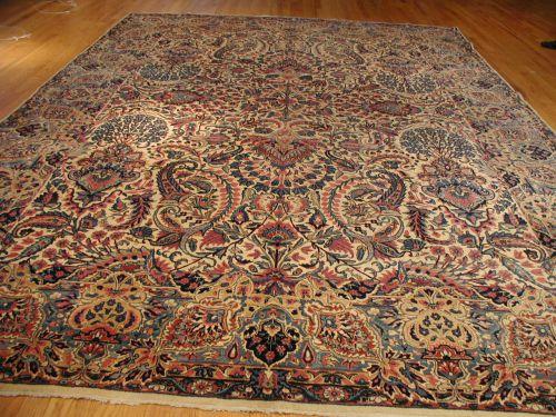 Blue Kerman Antique Persian Rug