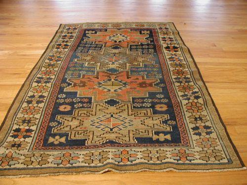 Ivory Lesghistan Antique Caucasian Rug